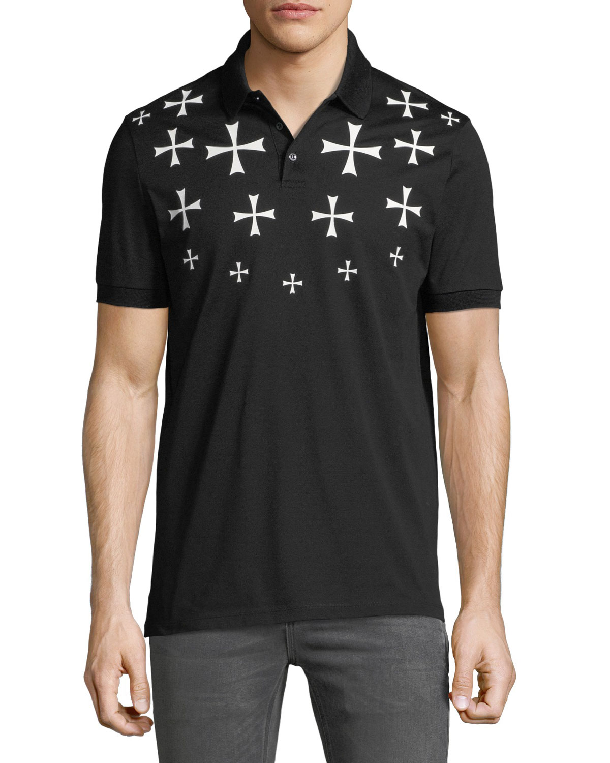 Men's Fair Isle Military Star Polo Shirt