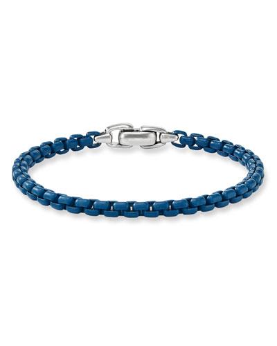 Men's Acrylic-Coated Box Chain Bracelet, 5mm