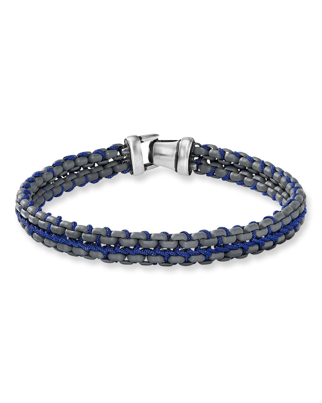 Men's 10mm Woven Box Chain Bracelet