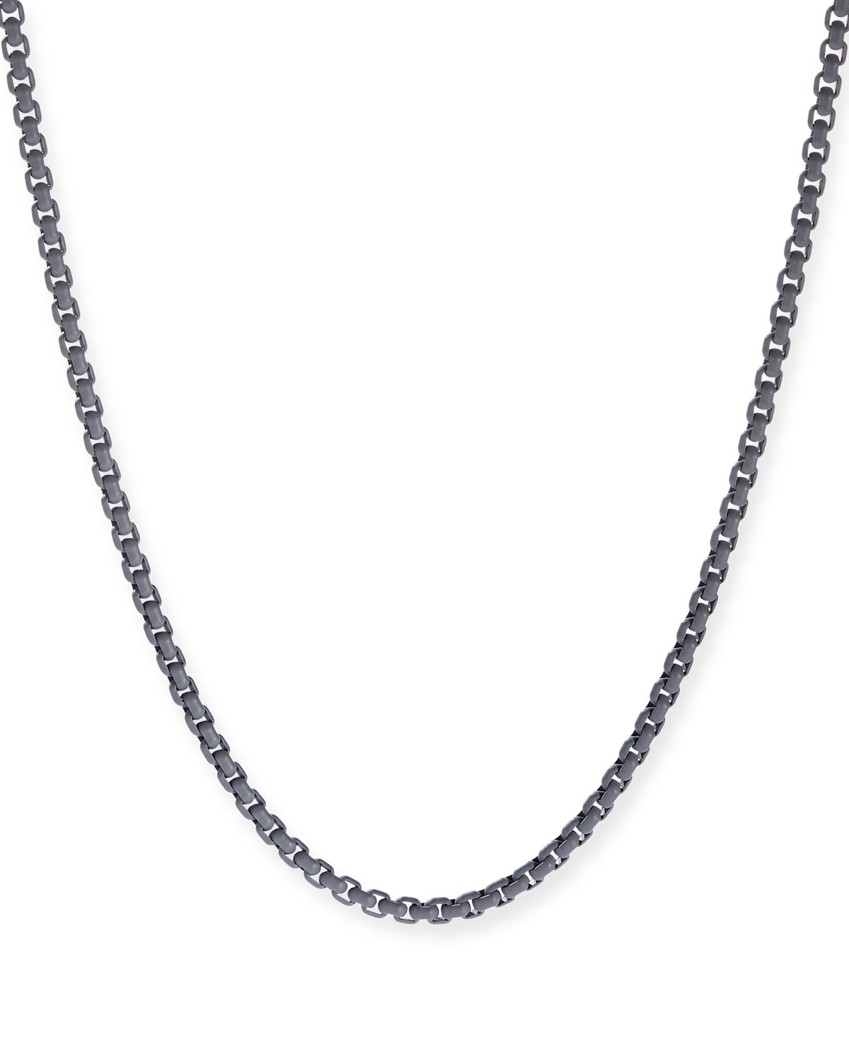 Men's Acrylic-Coated Stainless Steel Box Chain