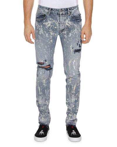 Quick Look. Marcelo Burlon · Men s Dark Splatter Slim-Fit Distressed Jeans 4d3b11d546a7