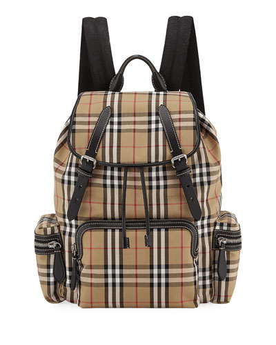 6763ffe64199 Quick Look. Burberry · Men s Rucksack Signature Check Backpack