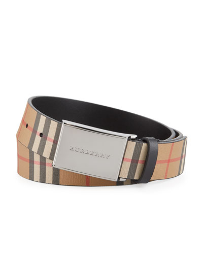 bed7c70d45cf0 Quick Look. Burberry · Men s Charles Check Leather Belt