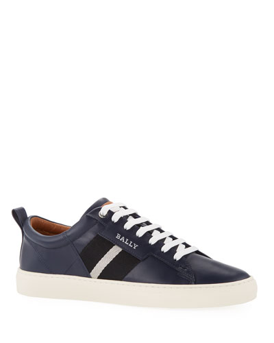 Men's Helvio Calf Leather Low-Top Sneakers
