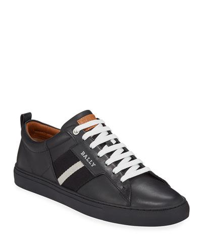 Men's Helvio Leather Low-Top Sneakers