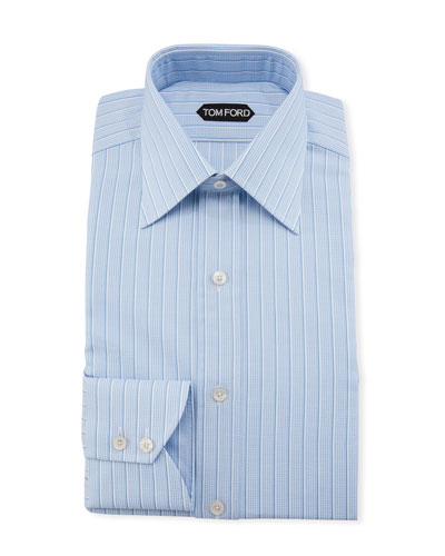 Men's Textured Stripe Dress Shirt