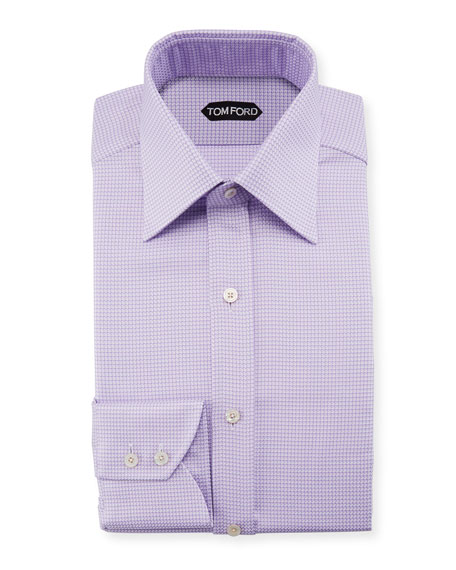 TOM FORD Men's Houndstooth Dress Shirt