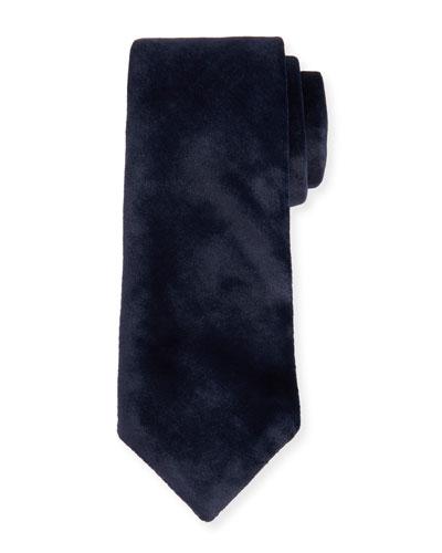 Solid Velvet Tie, Navy