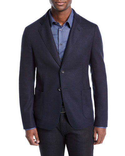 Men's Deconstructed Two-Button Jacket