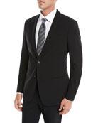 Giorgio Armani Men's Crepe Wool Two-Piece Suit, Black