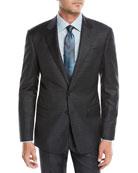 Giorgio Armani Men's Tonal Plaid Two-Piece Wool Suit