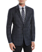Giorgio Armani Men's Shadow Plaid Two-Button Jacket