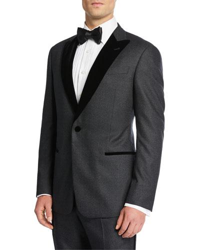Men's Velvet-Lapel Slim Tuxedo
