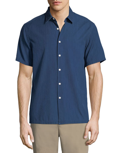 Men's Irving Canvas Short-Sleeve Sport Shirt