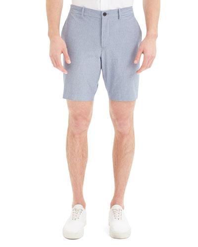 Men's Evan Oxford Striped Shorts