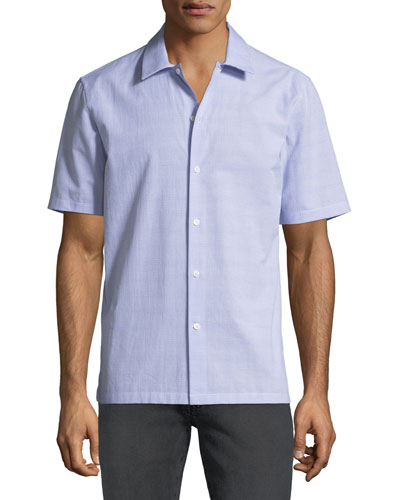 Men's Wyoming Textured Short-Sleeve Sport Shirt