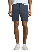 Theory Men's Evan Bayliss-Print Twill Shorts