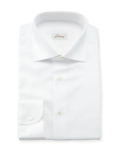 Men's Solid Textured Dress Shirt
