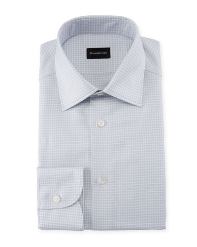 Men's Check Cotton Dress Shirt