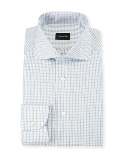 Men's Graph Check Dress Shirt, Blue