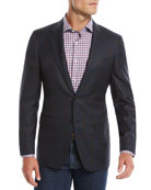 Canali Men's 120s Wool Textured Plaid Two-Button Sport