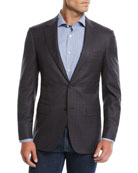 Canali Men's Super 120s Wool Plaid Sport Coat