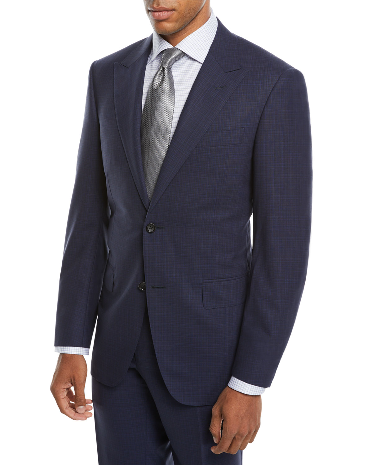 Men's Impeccabile Tonal Plaid Wool Two-Piece Suit