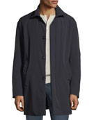 Emporio Armani Men's Lightweight Techno Car Coat