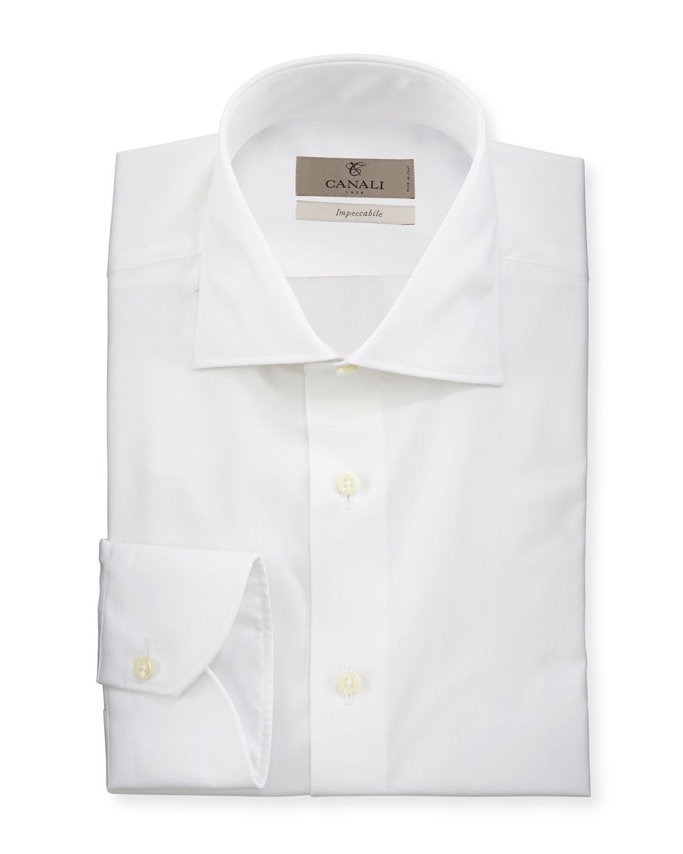 Men's Impeccabile Solid Dress Shirt, White