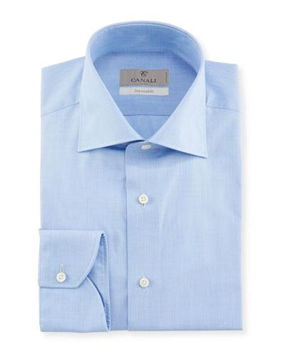 Men's Impeccabile Solid Dress Shirt, Blue