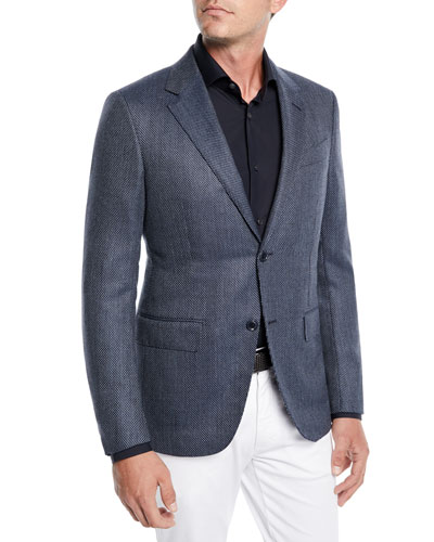 Men's Tic Wool-Silk Jacket