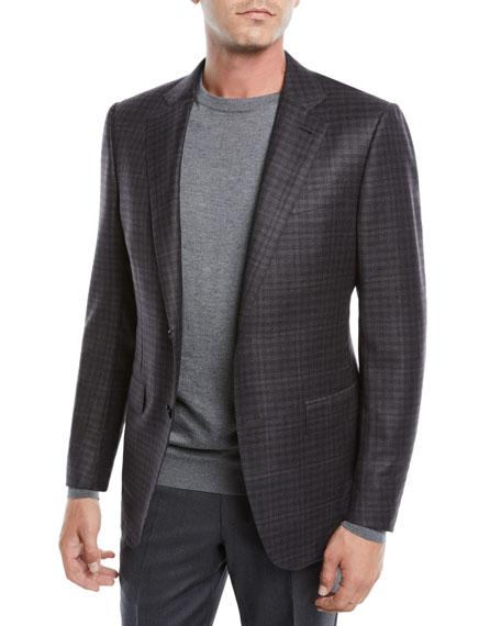 Ermenegildo Zegna Men's Two-Button Check Wool Jacket