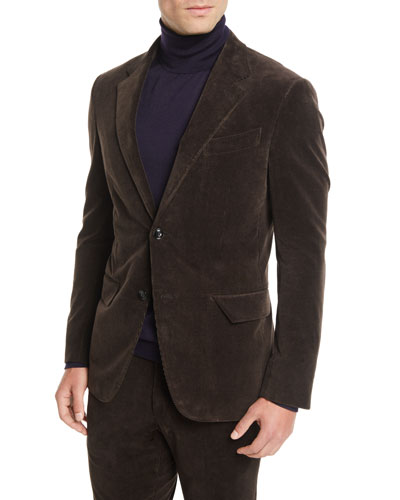 Men's Corduroy Two-Button Jacket
