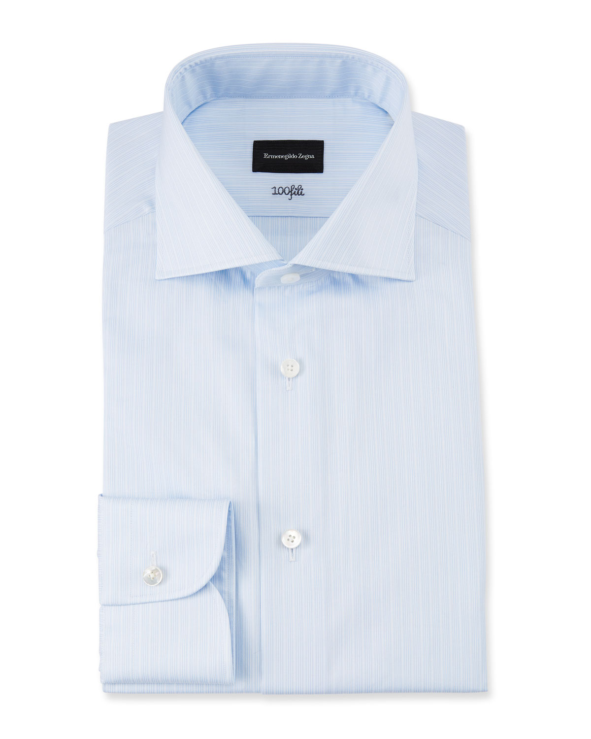 Men's 100fili Micro-Stripe Dress Shirt