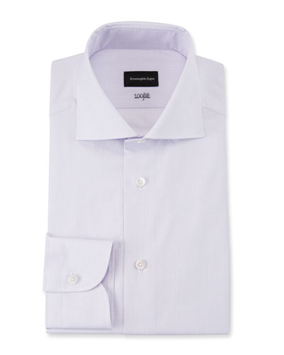 Men's 100fili Textured Solid Dress Shirt