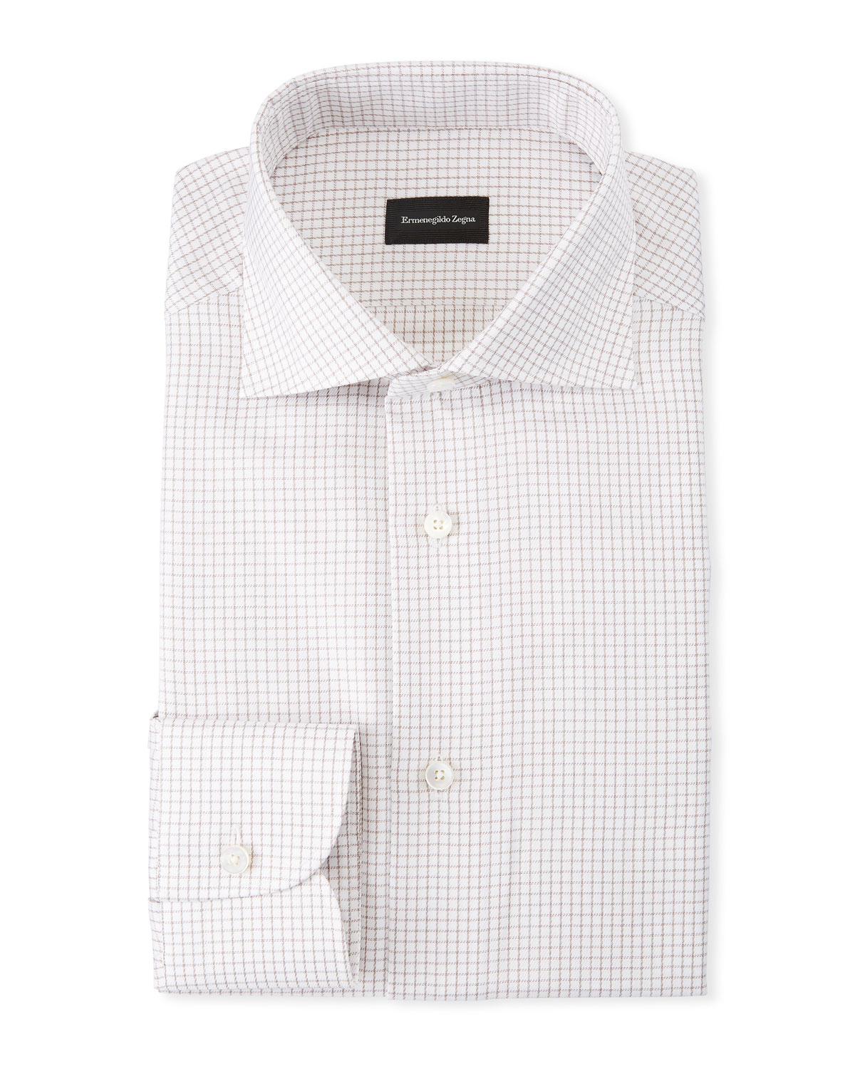 Men's Micro Check Dress Shirt