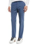 Ermenegildo Zegna Men's Cotton-Cashmere Flat Front Trousers