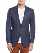 Ermenegildo Zegna Men's Two-Tone Plaid Two-Button Jacket