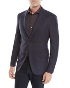 Ermenegildo Zegna Men's Two-Button Plaid Jacket