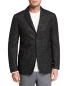 Ermenegildo Zegna Men's Two-Button Tic-Pattern Jacket
