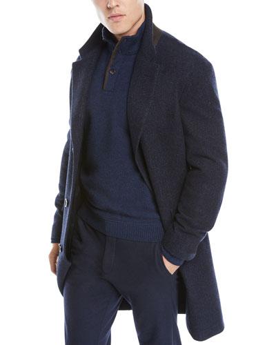 Men's Cashmere-Silk Boucle Coat