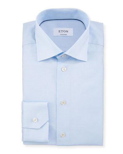 Men's Contemporary Fit Box Textured Dress Shirt