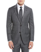 Ermenegildo Zegna Men's Heathered Solid Two-Piece Suit