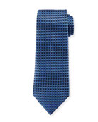 Ermenegildo Zegna 3D Box Silk Tie, Blue