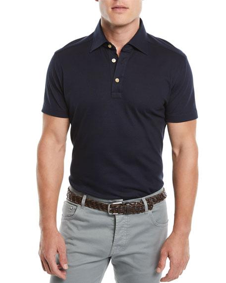 Kiton Men's Oxford Polo Shirt