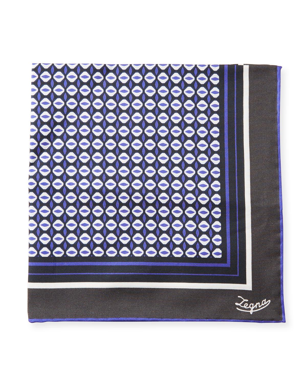 Diamond Pattern Silk Pocket Square