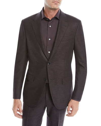 Men's Heathered Wool Two-Piece Suit