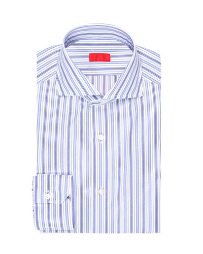 Multi-Stripe Cotton Dress Shirt
