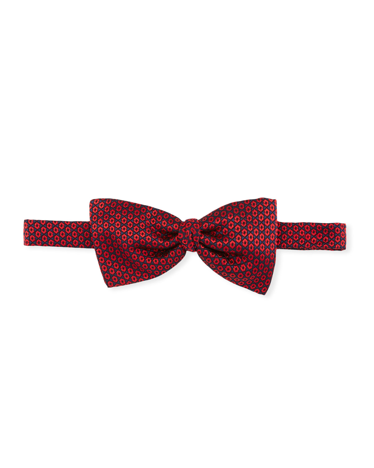 Hexagons Silk Bow Tie
