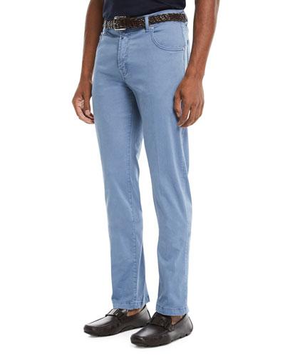 Men's Straight-Leg Twill Pants